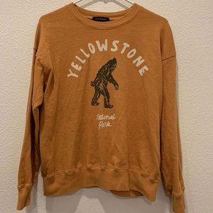 vintage yellow Yellowstone crewneck from Pacsun